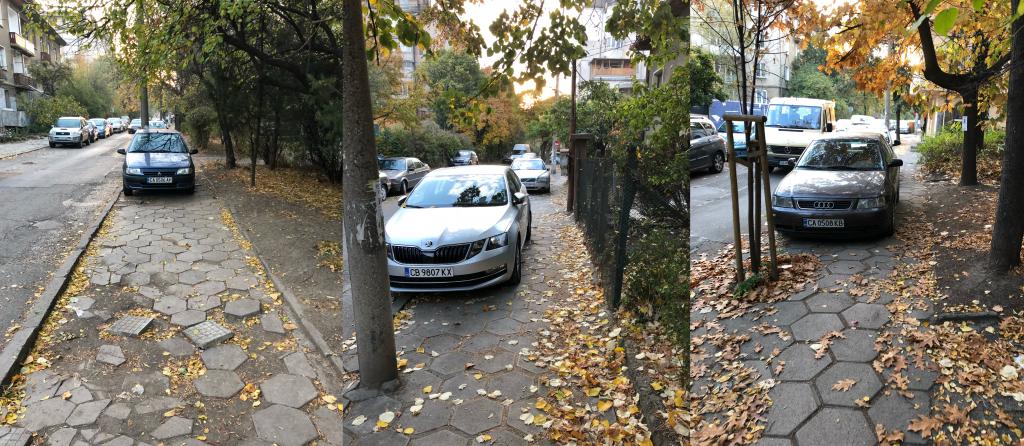 неправилно паркиране улица хемус